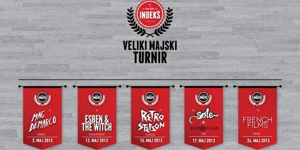 V sodelovanju z organizatorjem vam v nagradni igri poklanjamo 1 x 1 vstopnico za sklop koncertov IndeKŠ turnirja, ki bodo v maju v Kinu Šiška.