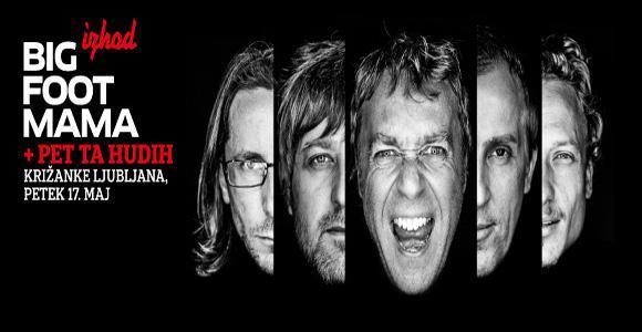 V sodelovanju z organizatorjem vam v nagradni igri poklanjamo 4 x 1 vstopnico za koncert Big Foot Mama, ki bo 17. 5. 2013 v Križankah.
